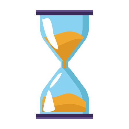 hourglass icon over white background, colorful design. vector illustration 向量圖像