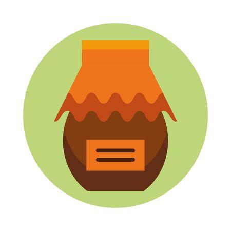 thanksgiving preserve jar isolated icon vector illustration design Ilustração