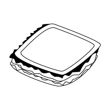 sandwich icon over white background, vector illustration