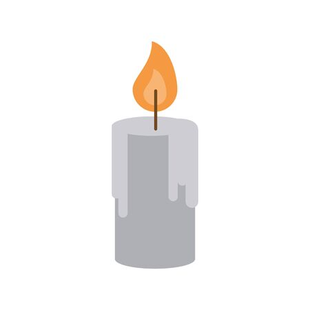 paraffin candle fire isolated icon vector illustration design