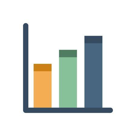 financial bars statistics graphic icon vector illustration design