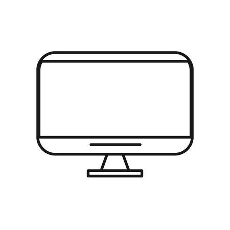 tv display device with target vector illustration design Ilustração