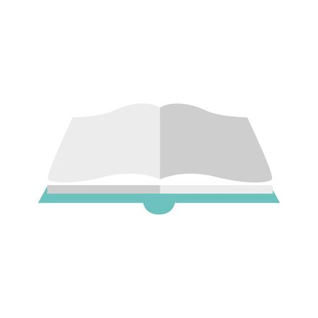 open book icon over white background, colorful and flat design, vector illustration