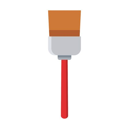 paint brush icon over white background, colorful design, vector illustration