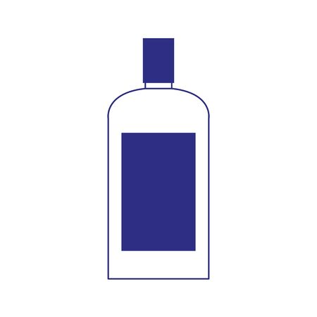 drink bottle icon over white background, vector illustration