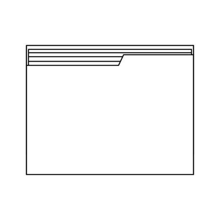 Folder document symbol isolated vector illustration graphic design
