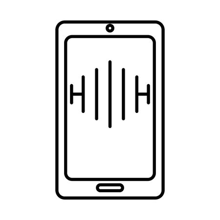 smartphone electronic device isolated vector illustration design