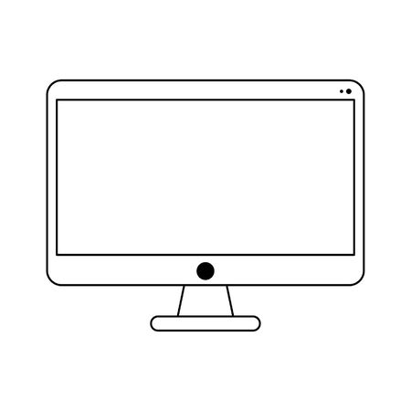 Computer screen technology isolated vector illustration graphic design
