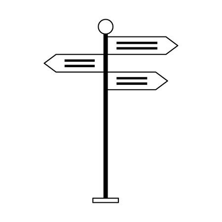 Street signpost isolated cartoon symbol vector illustration graphic design