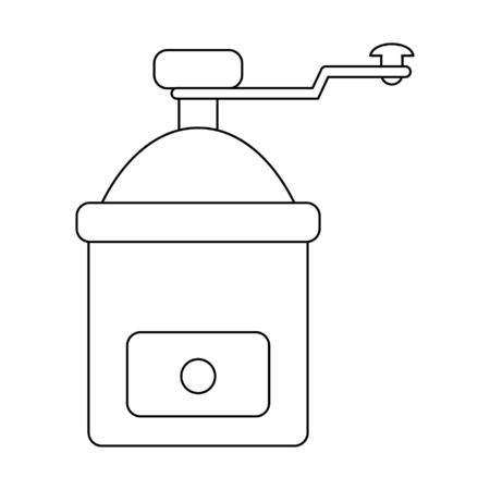Coffee grinder equipment isolated vector illustration graphic design