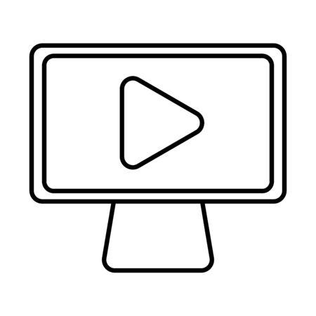 desktop computer display isolated icon vector illustration design Illusztráció