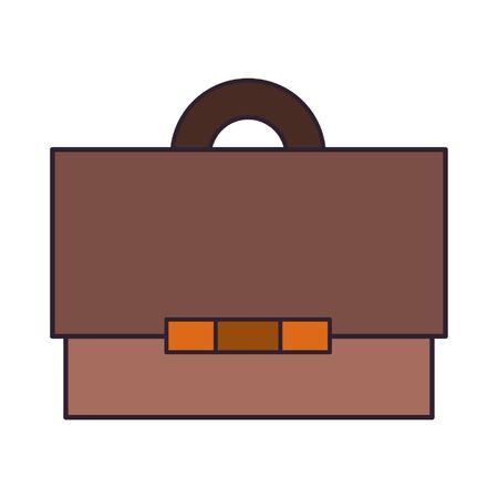 Business briefcase symbol isolated cartoon vector illustration graphic design Ilustrace