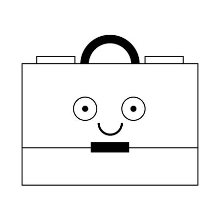 Business briefcase symbol isolated smiling cute cartoon vector illustration graphic design Ilustrace