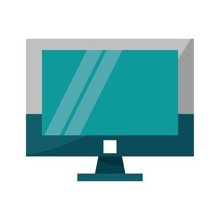 Computer screen hardware symbol vector illustration graphic design
