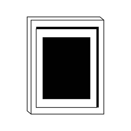 photo frame icon over white background, vector illustration Иллюстрация