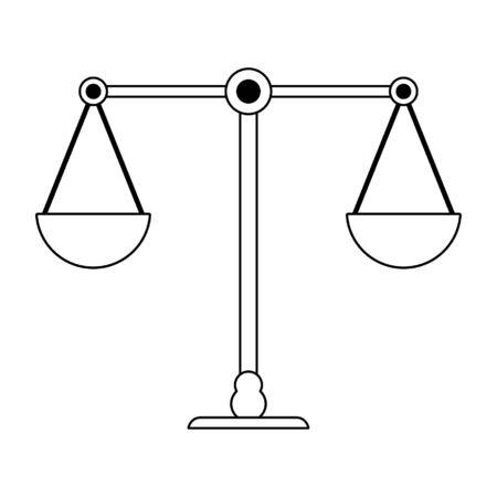 Justice balance symbol isolated vector illustration graphic design 일러스트