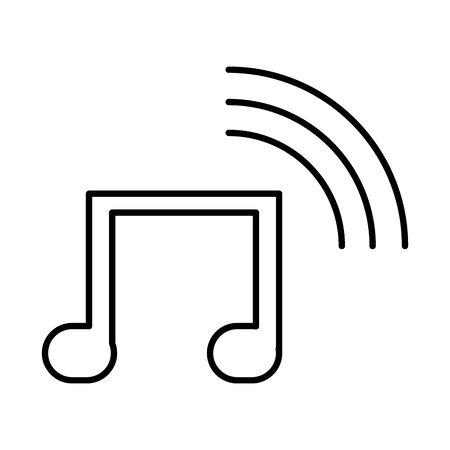 music note sound isolated icon vector illustration design Ilustração