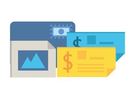 credit card ecommerce with picture file vector illustration design Foto de archivo - 138046866