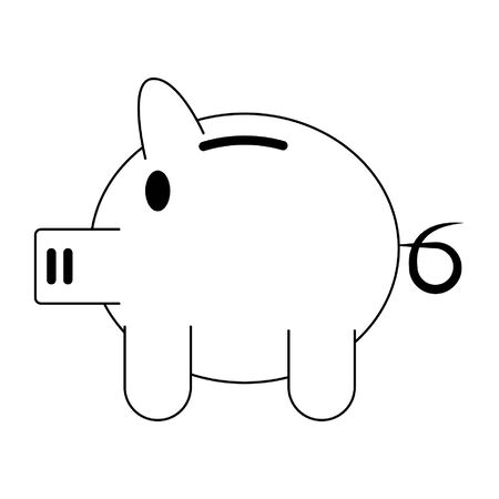 Piggy money savings symbol isolated vector illustration graphic design