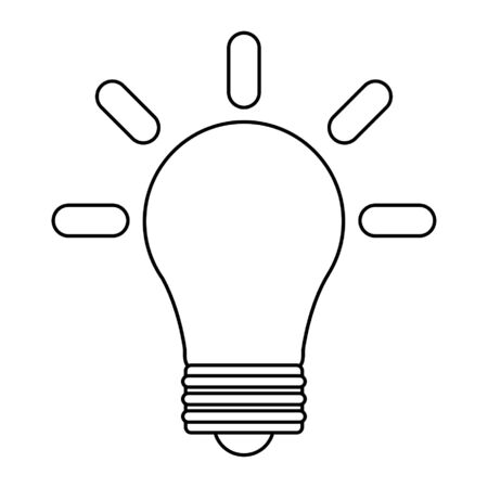 Bulb light symbol isolated vector illustration graphic design