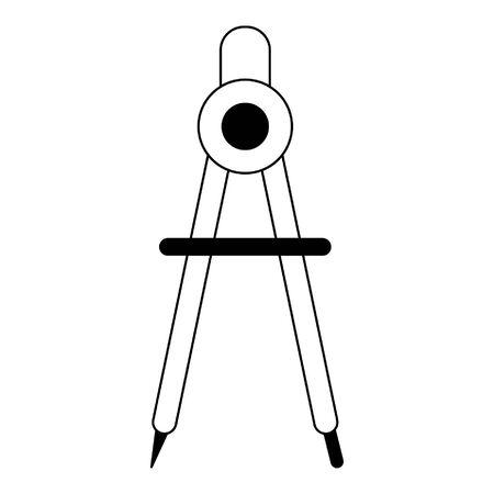 compass icon cartoon isolated vector illustration graphic design