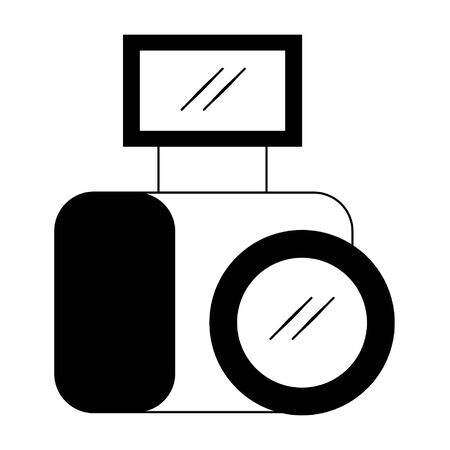 Photographic camera with flash isolated vector illustration graphic design Иллюстрация