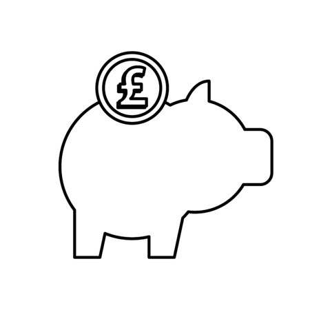 piggy savings with sterling pound vector illustration design