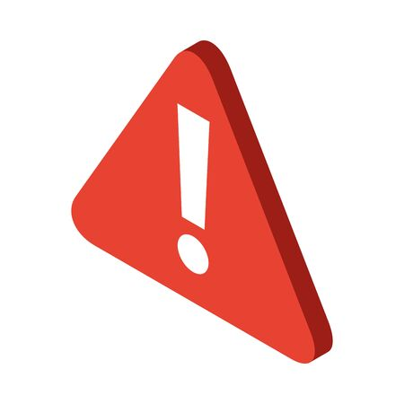 caution alert symbol isolated icon vector illustration design