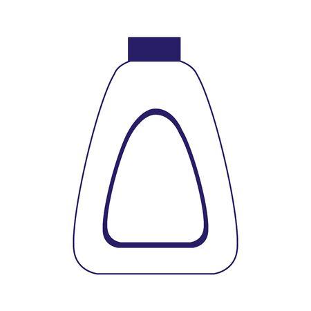 sun bronzer bottle icon over white background, flat design, vector illustration