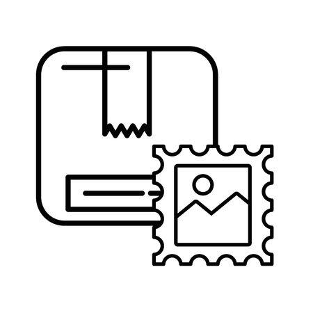 box carton packing postal service vector illustration design