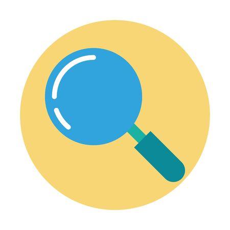 Recherche loupe icône isolé vector illustration design