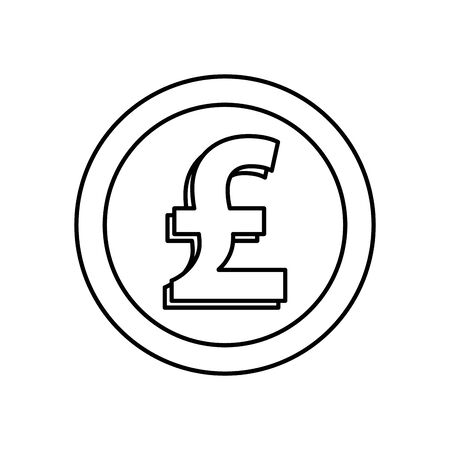 sterling pound coin isolated icon vector illustration design Illusztráció