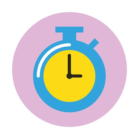 chronometer timer device isolated icon vector illustration design 向量圖像