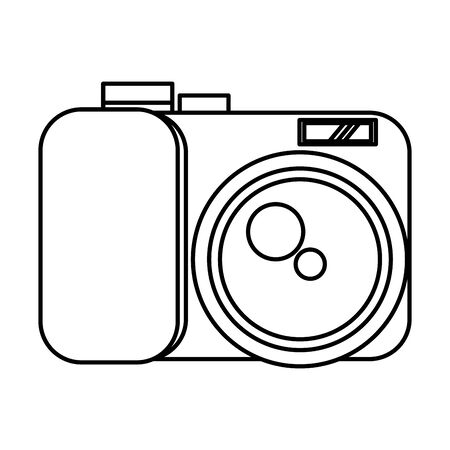 camera photographic user interface icon vector illustration design