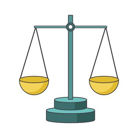 scale icon over white background, colorful design, vector illustration Çizim