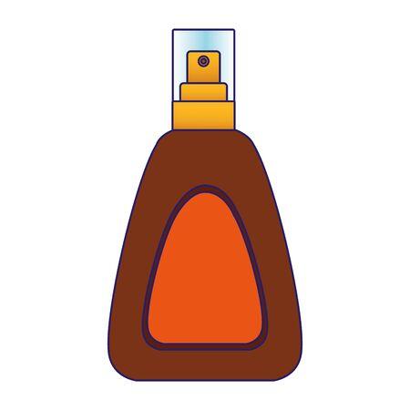 sun bronzer spray bottle icon over white background, colorful design, vector illustration