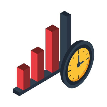 financial statistics bars graphic isolated icon vector illustration design