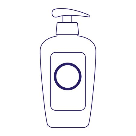 sunblock cream bottle icon over white background, flat design, vector illustration