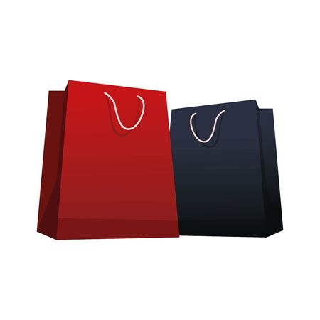 shopping bags icon over white background, colorful design, vector illustration