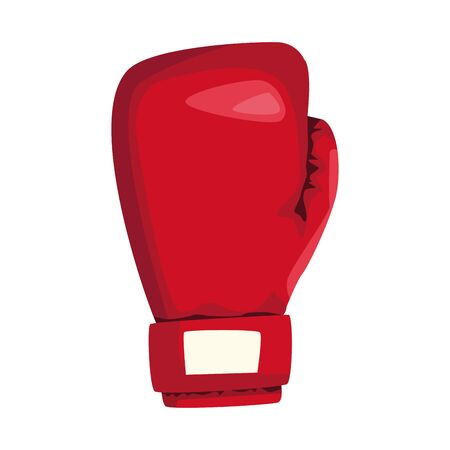 red boxing glove icon over white background, vector illustration Archivio Fotografico - 138096752