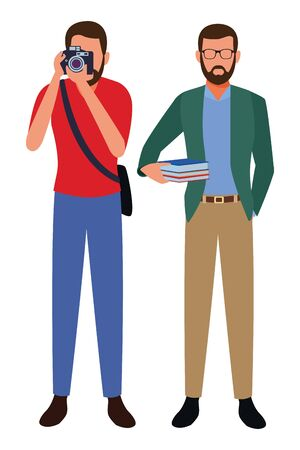 Jobs and professional workers vector illustration graphic design Ilustracja