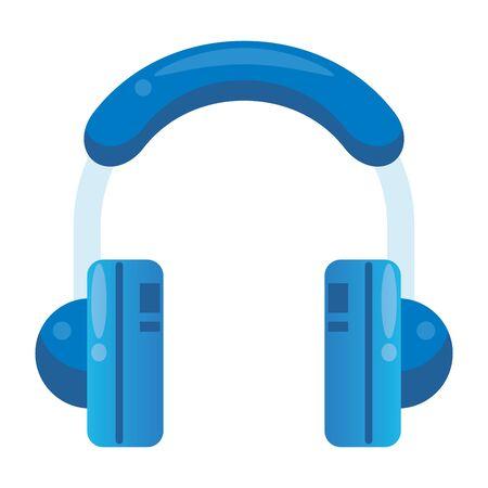 earphones audio device isolated icon vector illustration design Иллюстрация