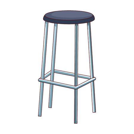 bar stool icon over white background, colorful design, vector illustration Foto de archivo - 138193390