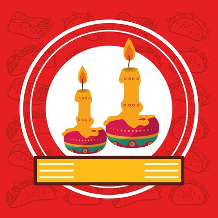 paraffin candles seal stamp icon vector illustration design Illusztráció