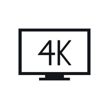 tv display device with 4k technology vector illustration design