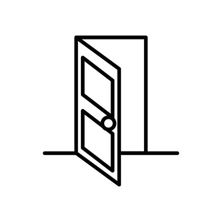 house door open isolated icon vector illustration design