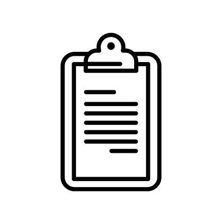 checklist clipboard document isolated icon vector illustration design