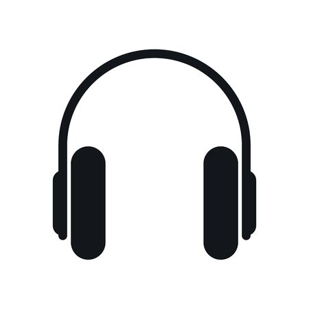 earphones sound device isolated icon vector illustration design