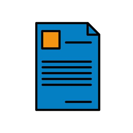 paper document file isolated icon vector illustration design