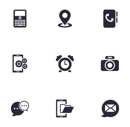 bundle of phone set icons vector illustration design